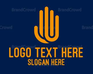 Hand - Purple hand logo design