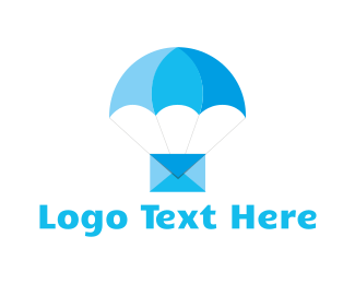 Email - Blue Airmail logo design
