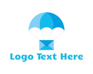Airmail - Blue Airmail logo design