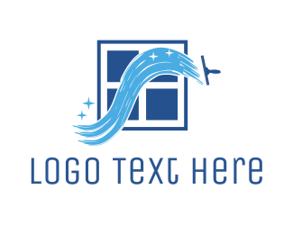 Window Cleaning - Window Cleaner logo design