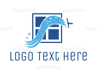 Cleaner - Window Cleaner logo design