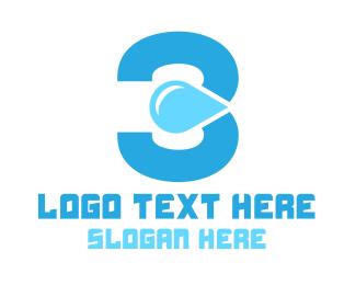 Oil Company - Blue Three Water logo design