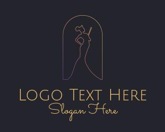 Queen - Pageant Queen Princess Monoline logo design