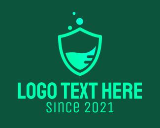 Chemical - Green Chemical Shield  logo design