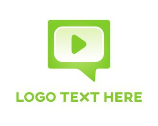 Audio - Green Media logo design