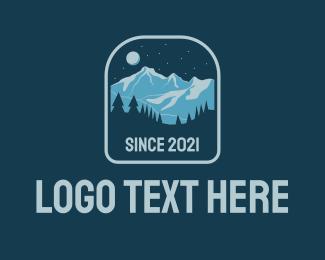Hiking Gear - Outdoor Mountain Camp  logo design