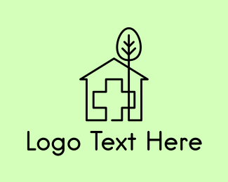 Pharmacy - Tree & Hospital logo design