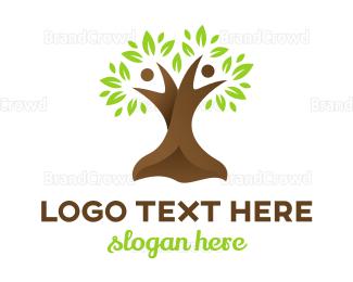Couple - Abstract Couple Tree logo design