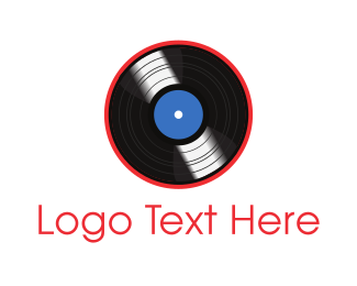 Soundcloud - Vinyl Record logo design