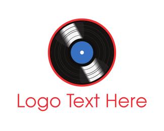 Compact - Vinyl Record logo design