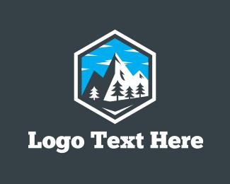 Switzerland - Snow Mountain  logo design