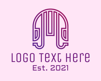 Disco Bar - Gradient Minimalist Jukebox logo design