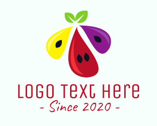 Red Watermelon - Fruit Juice logo design