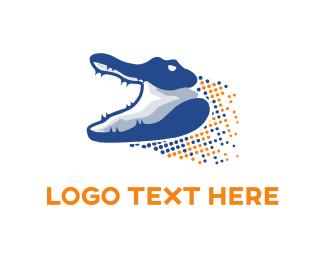 Attack - Digital Gator logo design