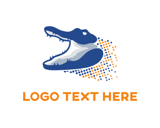 Predator - Digital Gator logo design