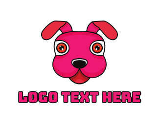 Tongue - Stuffed Toy Puppy logo design
