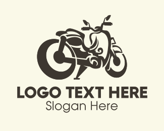 Riding - Motorcycle Motorbike logo design
