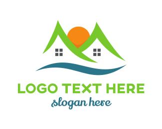 Cabin - Mountain Residences  logo design