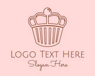 Crown - Royal Cupcake logo design