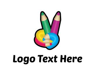 Cmyk - Peace Colors logo design