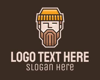 Apparel - Geometric Lumberjack Face logo design
