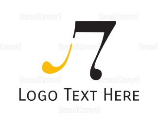 Jazz - Black & Yellow Note logo design