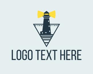 Light Tower - Ocean Light House  logo design