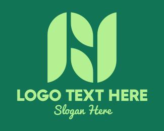 Plants - Garden Leaf Letter J logo design