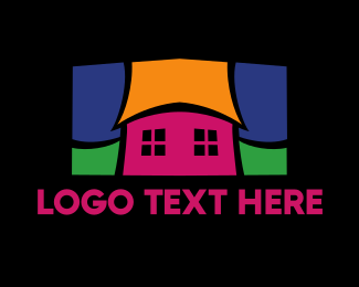 Educational - Colorful Mosaic House  logo design