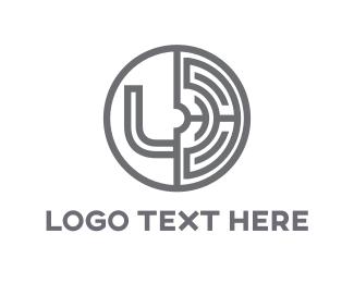 Letter L - Grey Labyrinth logo design