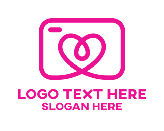 Action - Pink Heart Camera  logo design