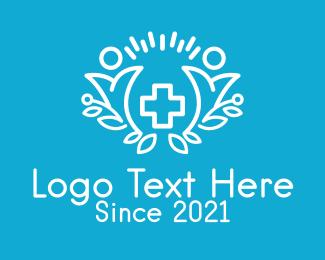 Health Care Worker - Minimalist Medical Clinic logo design