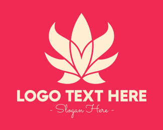 Botique - Pink Lotus Flower logo design