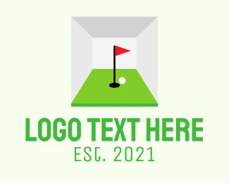 Golf Course - Indoor Golf Course logo design