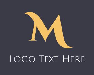 Gold Elegant Text Logo
