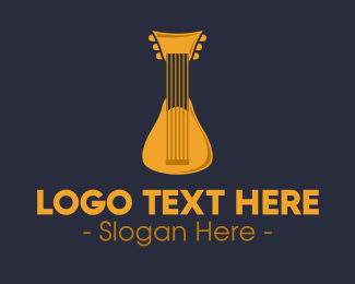 Music - Golden Rondalla Music logo design