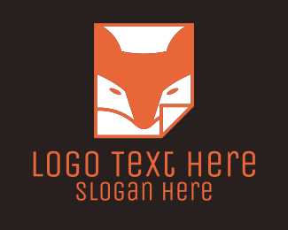 Paper - Orange Fox Paper  logo design
