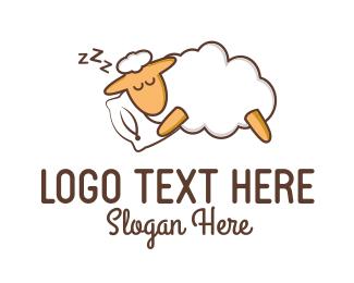 Nap - Sleeping Sheep logo design