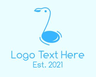 Node - Blue Bird Note  logo design