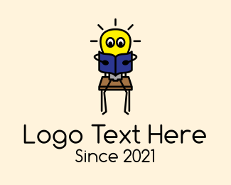 Preschool - Preschool Lightbulb Mascot logo design