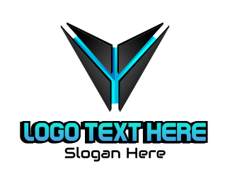 Technology - Futuristic Gaming Robot Mascot logo design