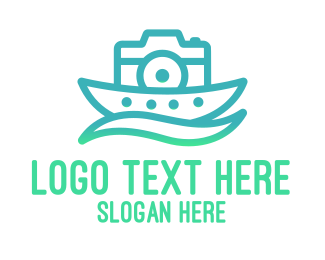Travel Vlogger - Nature Camera Photography logo design
