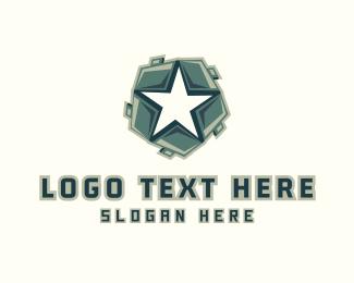 Superpower - Star Shield logo design