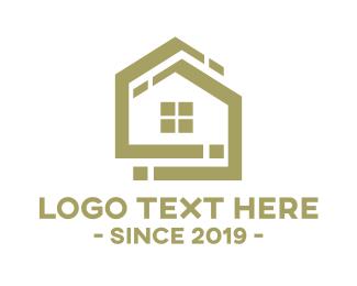 Home Improvement - Golden House logo design