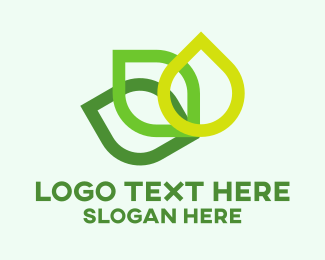 Green House - Green Leaves  logo design