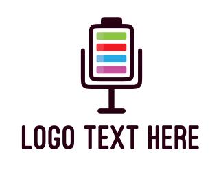 Microphone - Microphone Battery logo design