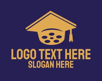 School - Film School Graduate logo design