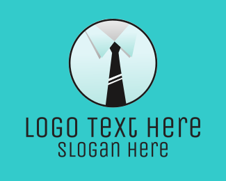 Men Fashion - Business Tie logo design
