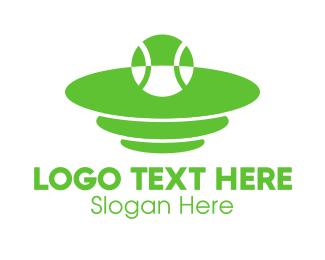 Sport - Green Tennis Court logo design