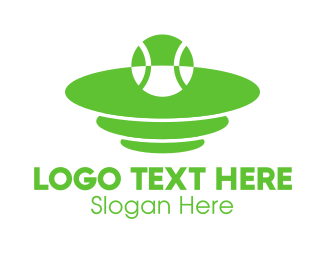 Sporting Event - Green Tennis Court logo design